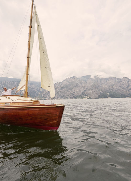 One day on our sailing boat on Lake Garda